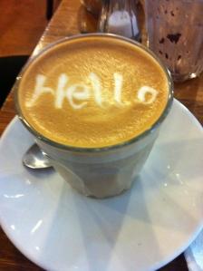 Gammal bild och fint minne från fika på Brunswick Street när min fina vän M fortfarande var i Australien och jobbade på ett café på just Brunswick Street. Brukade få gratis kaffe och sitta och snacka med henne i timmar. Synd att hon är tillbaka i Tyskland nu, men det hinner ju hända en del på två år...