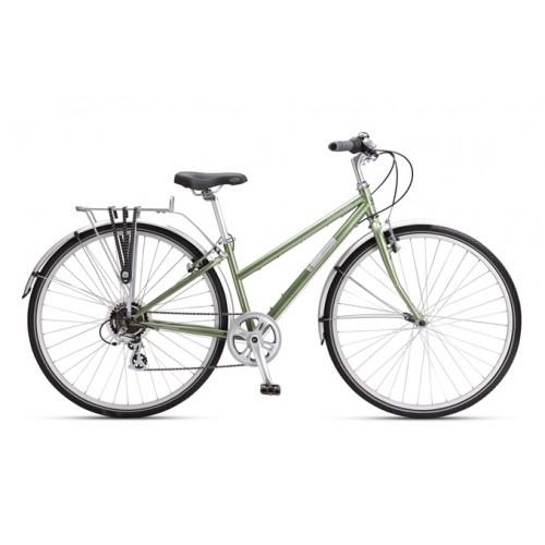 Min älskade gröna cykel (som jag förresten har döpt till Esmeralda) ser ut såhär. Fast jag har en korg på pakethållaren också, annars får jag inte plats med träningskläder, ombyten och lunchlådor! :-) Picture from http://www.pushys.com.au/